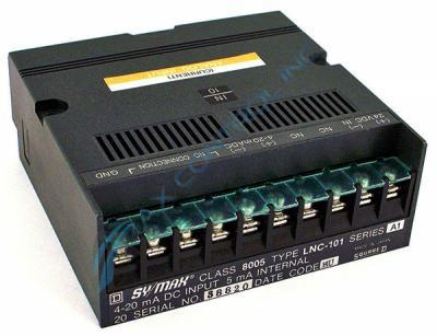 Square D Sy/max Class 8005 LNC-101 1 Point Analog Input Module. Call Now! | Image