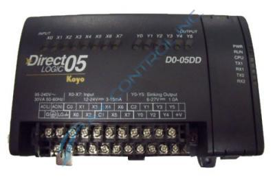 In Stock! Automation Direct Koyo PLC Direct 8 DC Input 6 DC with AC Power Supply. Call Now! | Image