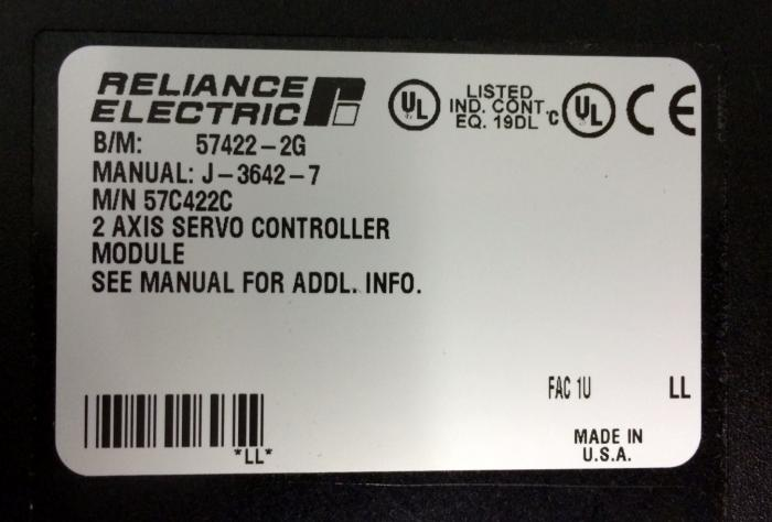 57c422 in stock reliance electric automax plc reliance automax 2 rh axcontrol com reliance electric automax manuals reliance electric automax manuals